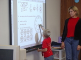 Beeldvergroting: Smartboard touchscreen